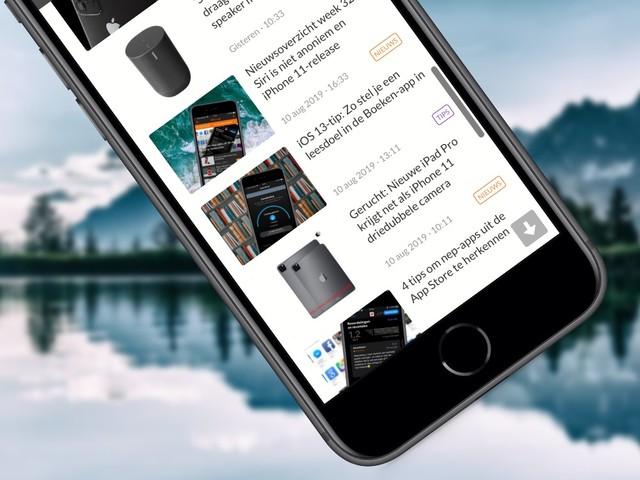 Sneller scrollen op je iPhone en iPad: zo doe je dat