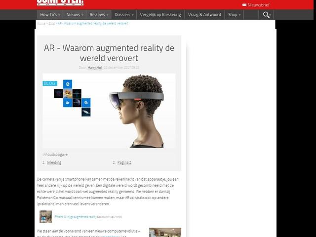 AR - Waarom augmented reality de wereld verovert