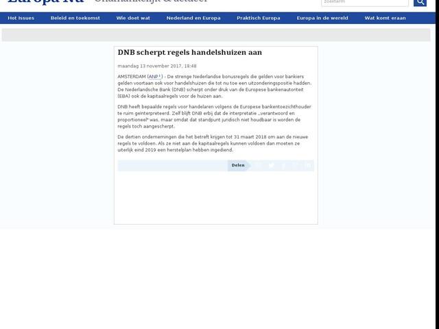DNB scherpt regels handelshuizen aan