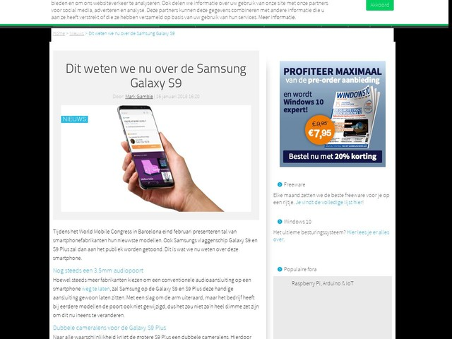 Dit weten we nu over de Samsung Galaxy S9
