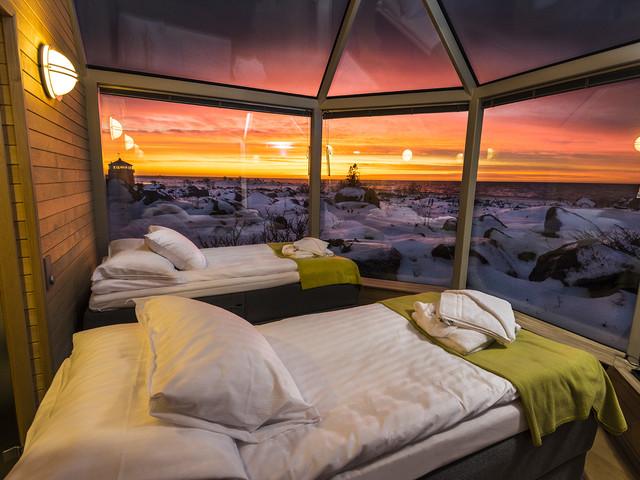 Bijzonder overnachten en noorderlicht spotten in Finland