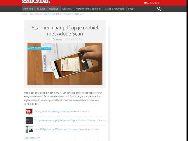 Scannen naar pdf op je mobiel met Adobe Scan