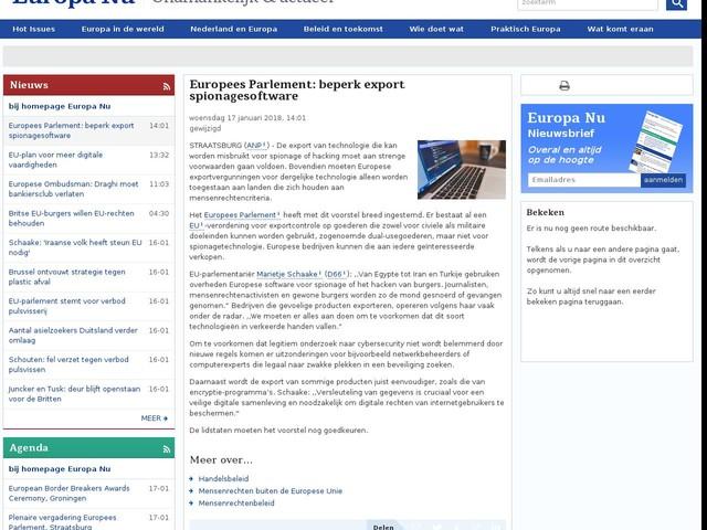 Europees Parlement: beperk export spionagesoftware