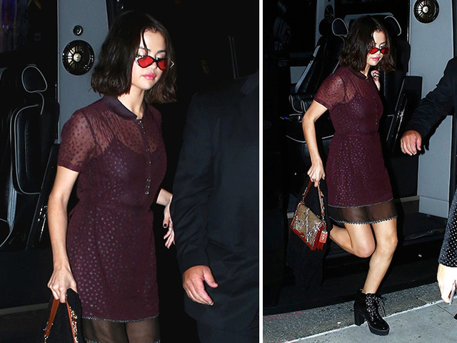 Selena Gomez Heads Home To The Apartment She's Sharing With The Weeknd After Dinner In NYC