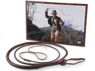 INDIANA JONES' ICONIC BULLWHIP TO BE SOLD IN £3M AUCTION