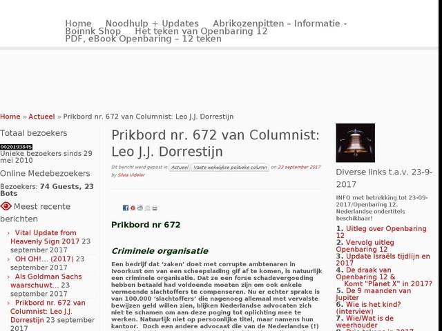 Prikbord nr. 672 van Columnist: Leo J.J. Dorrestijn