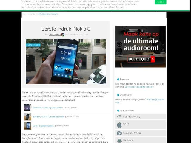 Eerste indruk: Nokia 8