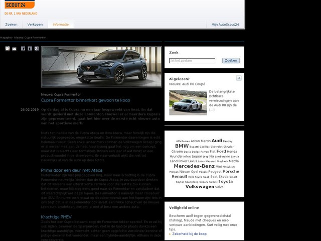 Nieuws: Cupra Formentor - Cupra Formentor binnenkort gewoon te koop