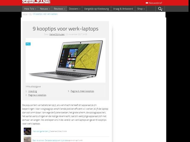 9 kooptips voor werk-laptops