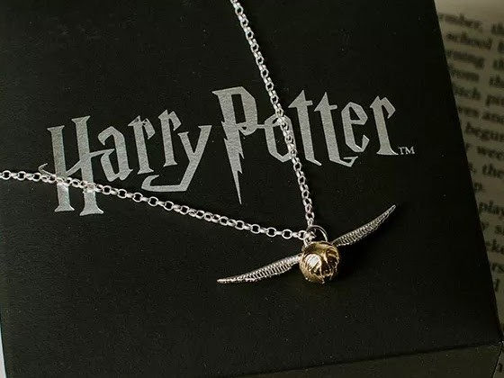 The Bearded Trio Christmas Gift Idea #3 - Harry Potter Golden Snitch Necklace.