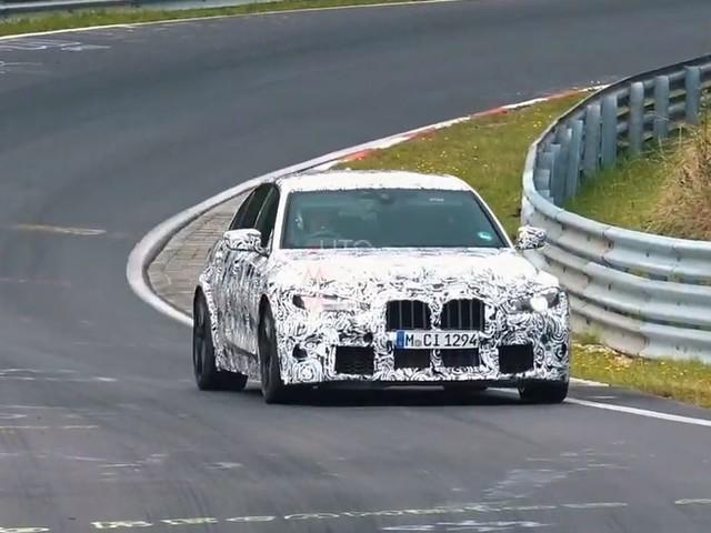 Video: G80 M3 Spied Testing on Nurburgring, wearing Huge Grilles