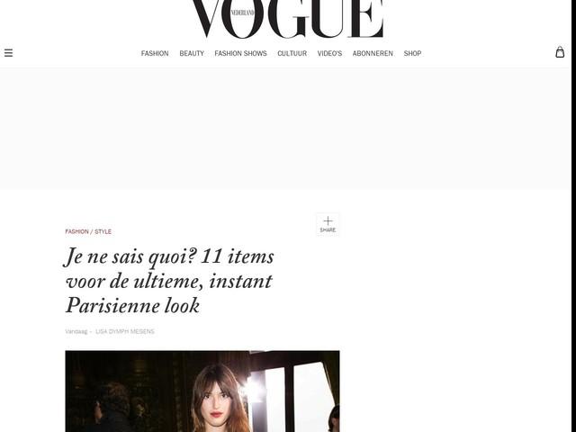 Je ne sais quoi? 11 items voor de ultieme, instant Parisienne look
