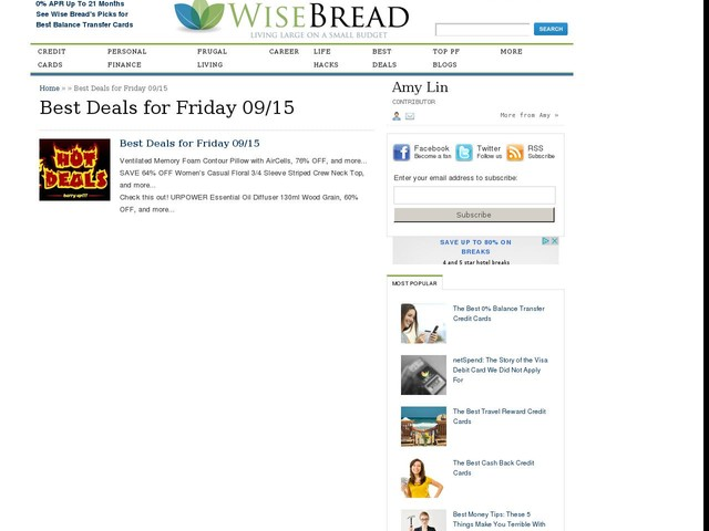 Best Deals for Friday 09/15