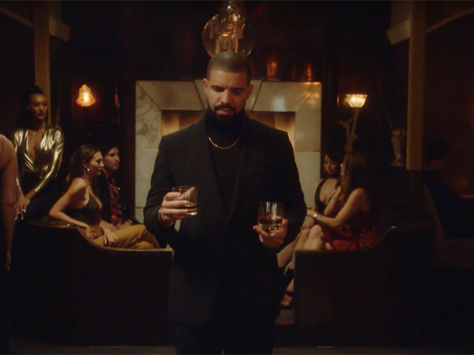 Nicole Murphy Curves Drake In Virginia Black Whiskey Ad