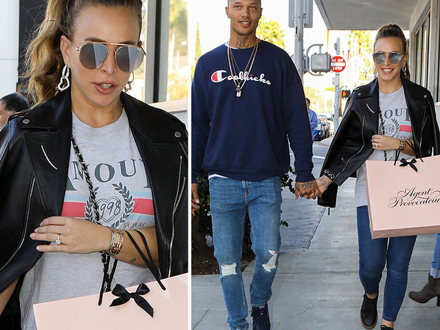 EXCLUSIVE PHOTOS - Is Topshop Heiress Chloe Green Engaged To Hot Felon Jeremy Meeks? Check Out Her Ring!