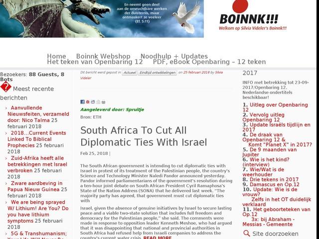 Zuid-Afrika heeft alle betrekkingen met Israel verbroken