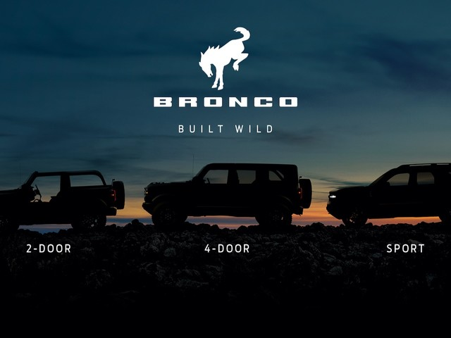 2021 Ford Bronco and Bronco Sport will debut on July 13