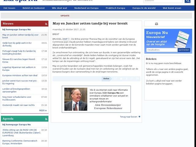 May en Juncker zetten tandje bij voor brexit