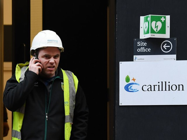 Failliete Britse bouwer Carillion is een probleem voor premier May