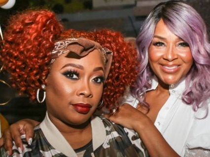 """Da Diamond Jumped Out: Lisa Raye Cusses Out 'Cocktails W/ Queens' Co-Hosts Over Sisterly Surprise From Da Brat, """"SH*T IS GOING ON!"""" [VIDEO]"""