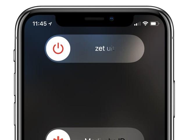 In 4 stappen de iPhone X uitzetten en opnieuw opstarten