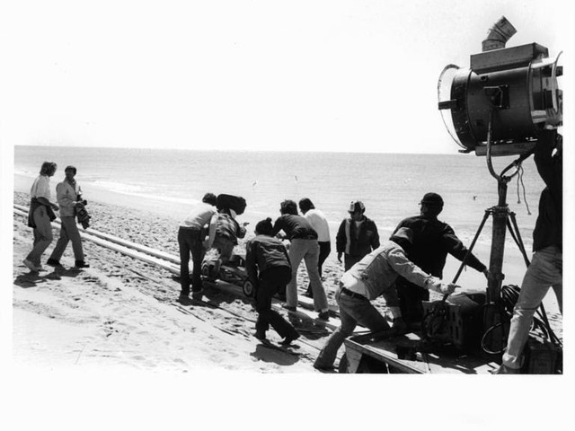 Photo of the Day - Jaws being shot on the beach