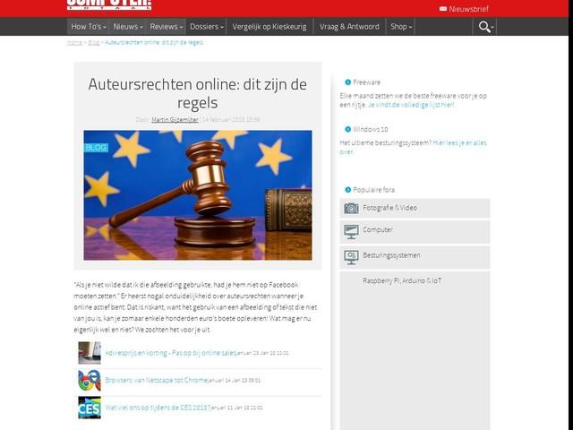 Auteursrechten online: dit zijn de regels