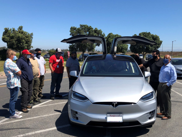 Tesla X is OCTA's first all-electric vanpool vehicle