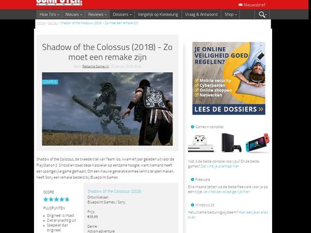 Shadow of the Colossus (2018) - Zo moet een remake zijn