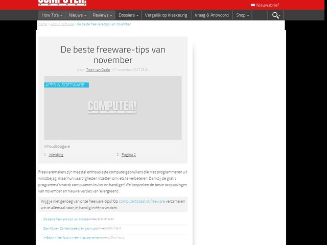 De beste freeware-tips van november