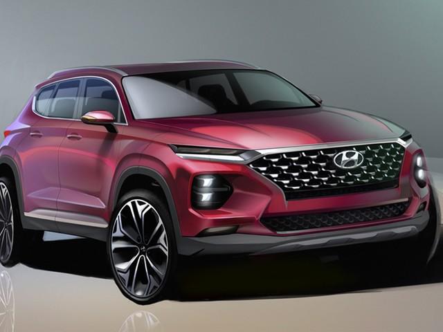 2019 Hyundai Santa Fe teased in new drawings