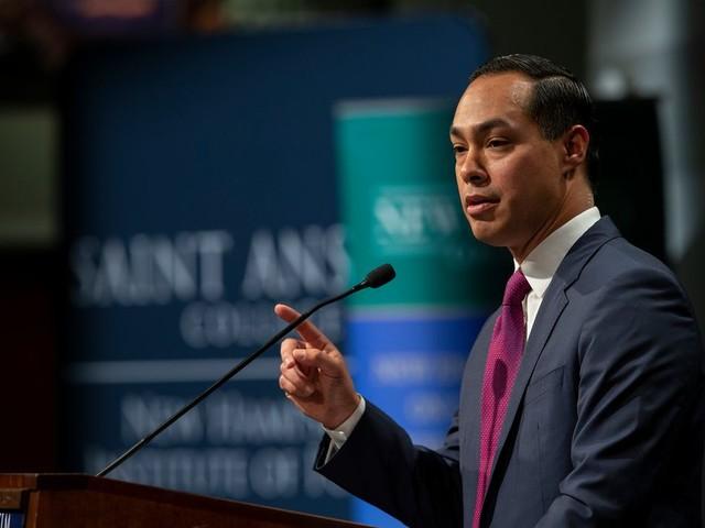 Bij eieren en spek proeft New Hampshire de nieuwste presidentskandidaat Julian Castro
