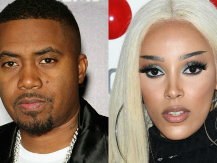 "AHT AHT! Nas Took A Jab At Doja Cat On New Track ""Ultra Black"" And Now Her Stans Are Dragging Him For THIS"