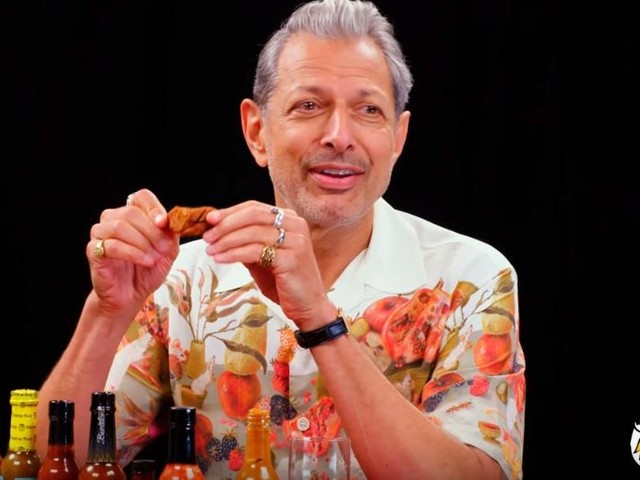 How Hot Can He Go? Watch Jeff Goldblum Interview While Eating Spicy Wings