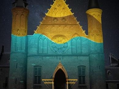 Kijk: Videoprojecties op Ridderzaal en Kurhaus