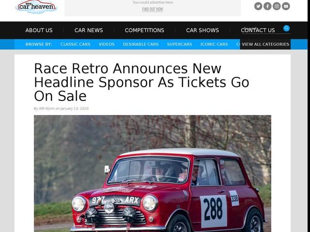 Race Retro Announces New Headline Sponsor As Tickets Go On Sale