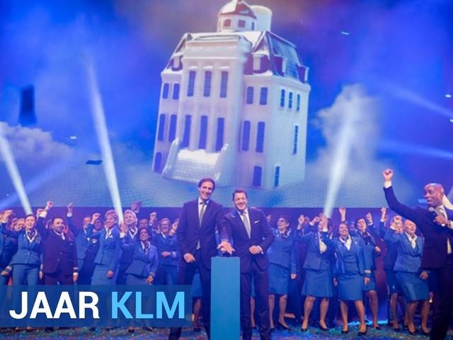 Zo vierde de KLM deze week de 100-ste verjaardag