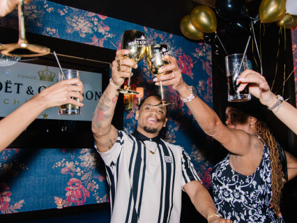 Looks Litt? Mack Wilds Celebrates Dirty Thirty With Moët Nectar Impérial Rosé