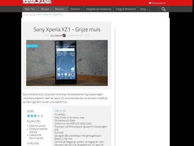 Sony Xperia XZ1 - Grijze muis