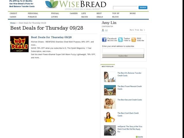 Best Deals for Thursday 09/28
