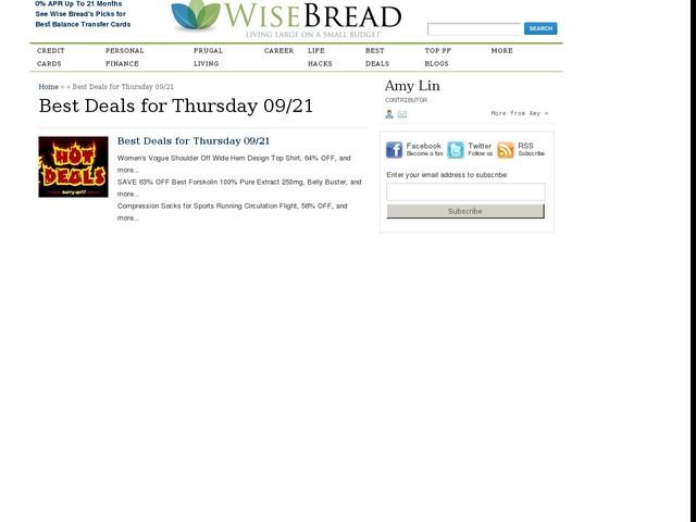 Best Deals for Thursday 09/21