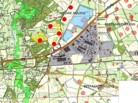 'Geen windmolens vlakbij Natura 2000-gebied Lutterzand'