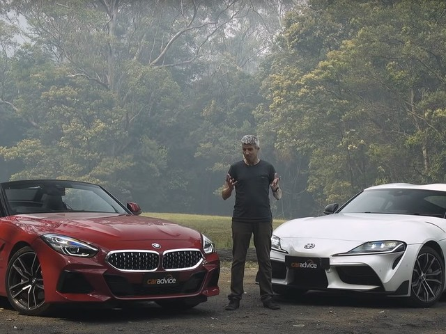 Video: BMW Z4 sDrive20i and Toyota Supra compared in Australia