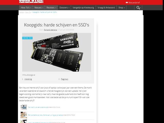 Koopgids: harde schijven en SSD's