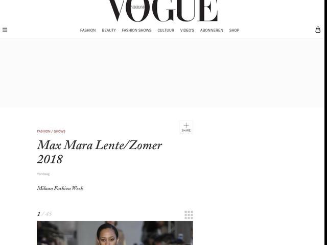 Max Mara Lente/Zomer 2018