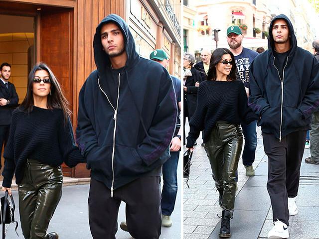 Kourtney Kardashian And Younes Bendjima Take Their Love To Paris For Fashion Week