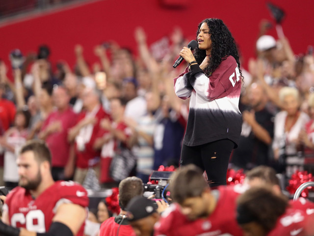 Give Her A Hand: Jordin Sparks Makes A Subtle Statement While Singing The National Anthem