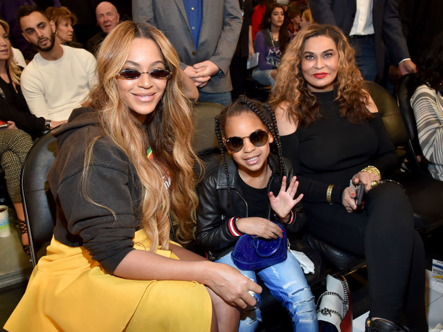 Game Of Thrones: Queen Bey Brought Blue Ivy To Watch The All-Stars Ball Out