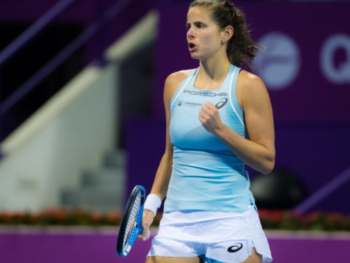 Sporty and feminine: Julia Goerges' Asics tennis style in 2018