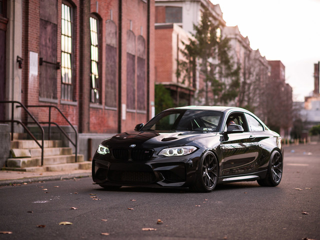 Black Sapphire Metallic BMW M2 Gets Carbon Fiber Upgrades & HRE Wheels